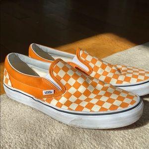 Men's Vans Slip On. Orange Sz. 10